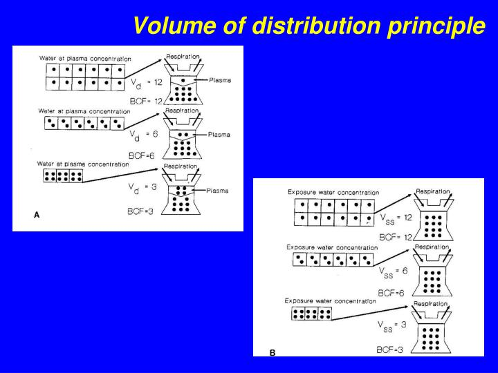 Volume of distribution principle