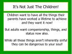 it s not just the children