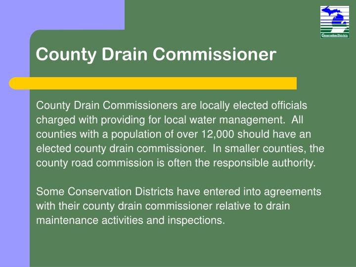 County Drain Commissioner