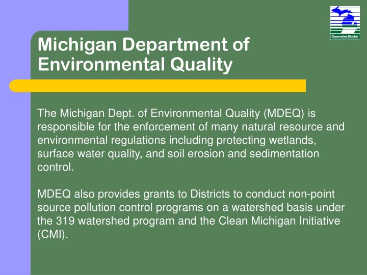 Michigan Department of Environmental Quality