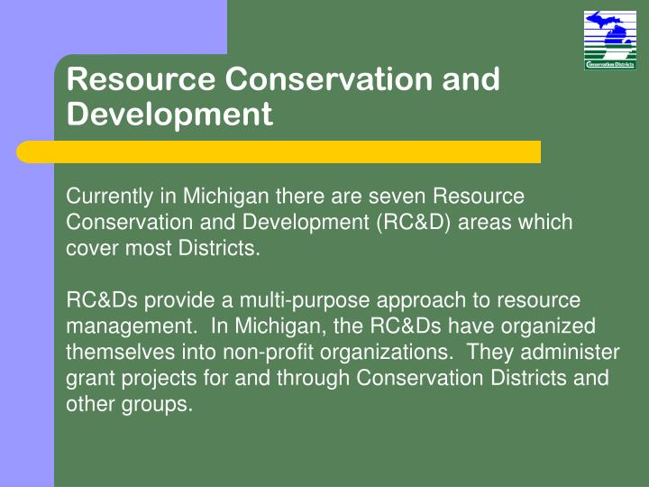 Resource Conservation and Development