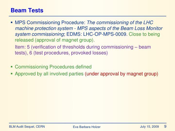 Beam Tests