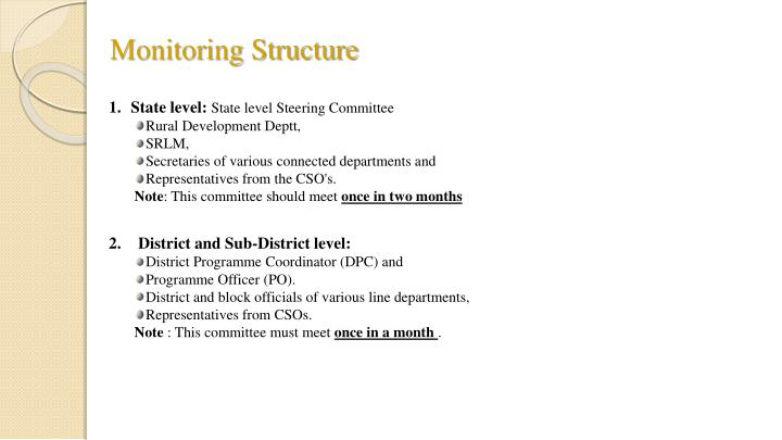 Monitoring Structure