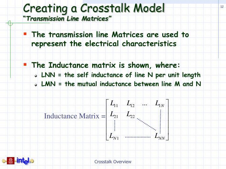 Creating a Crosstalk Model