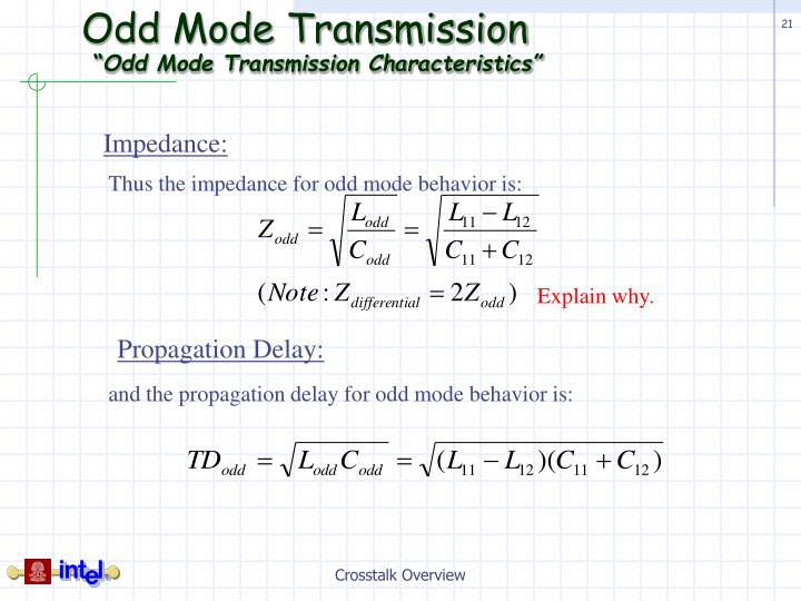 Odd Mode Transmission