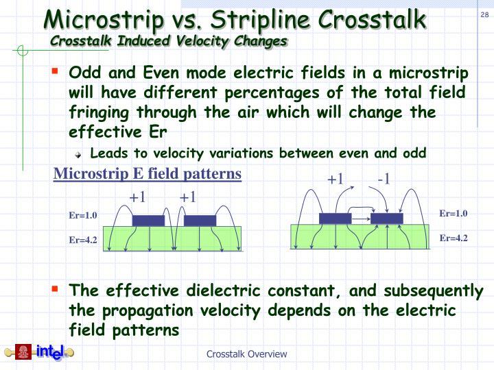 Microstrip vs. Stripline Crosstalk