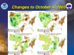 changes to october 4 2005