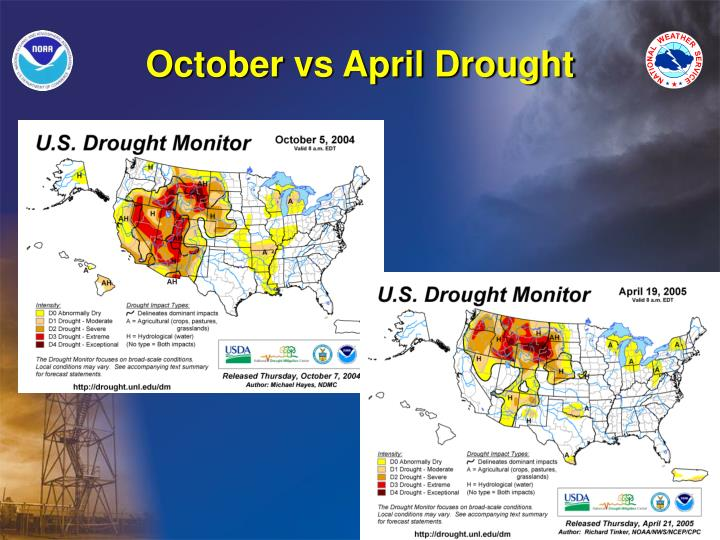 October vs April Drought