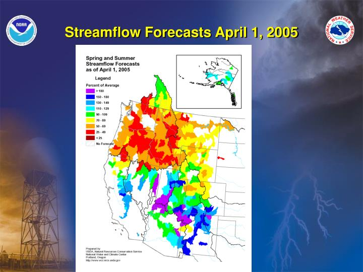 Streamflow Forecasts April 1, 2005