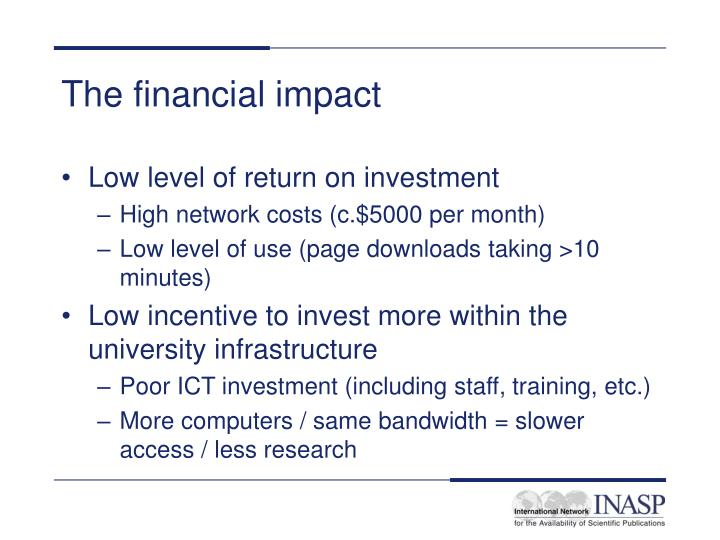 The financial impact