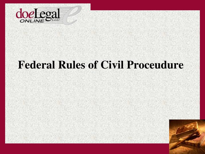 federal rules of civil proceudure
