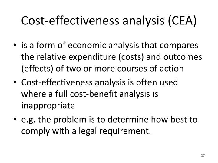 Cost-effectiveness analysis (CEA)