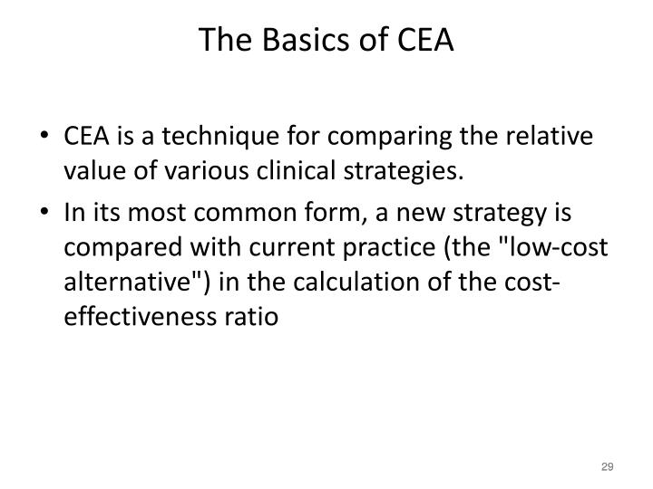 The Basics of CEA