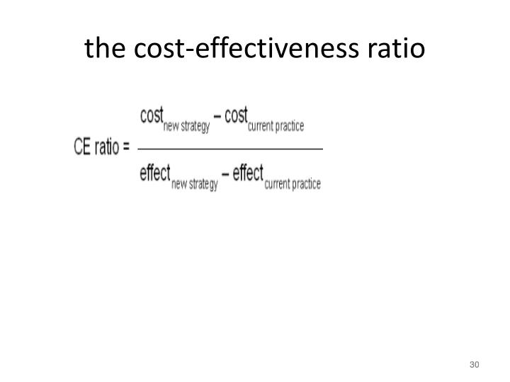 the cost-effectiveness ratio