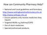 how can community pharmacy help