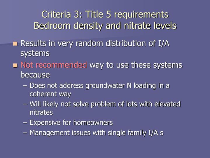 Criteria 3: Title 5 requirements