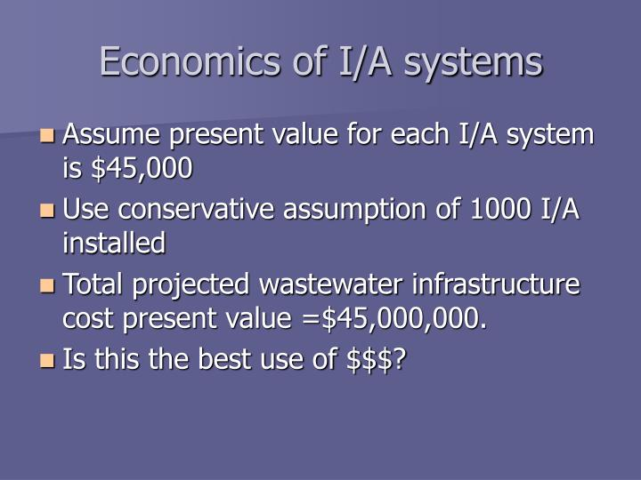 Economics of I/A systems
