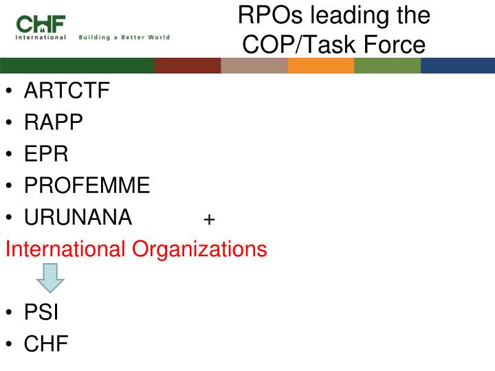 Rpos leading the cop task force