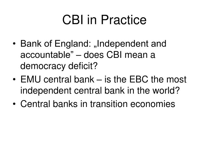 CBI in Practice