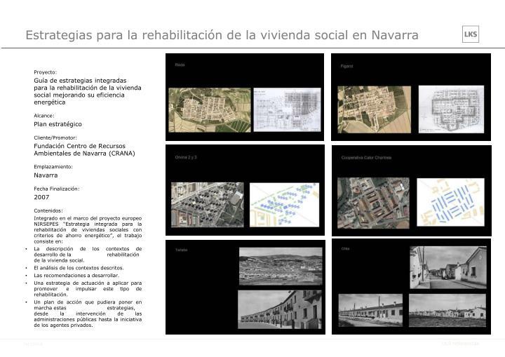 Estrategias para la rehabilitación de la vivienda social en Navarra