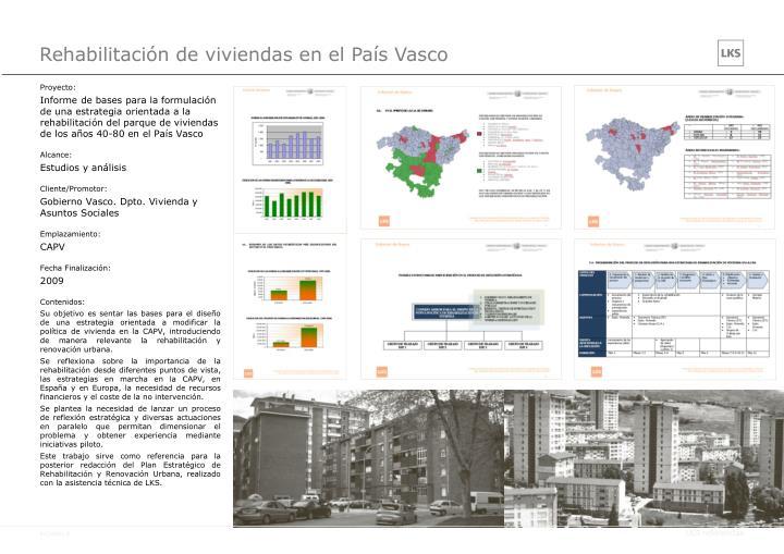 Rehabilitación de viviendas en el País Vasco