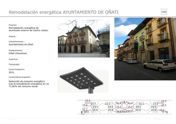 Remodelación energética AYUNTAMIENTO DE OÑATI