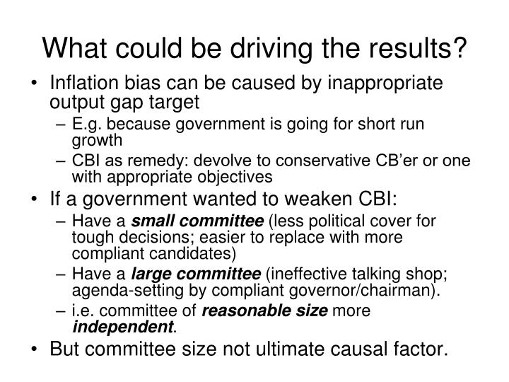 What could be driving the results?