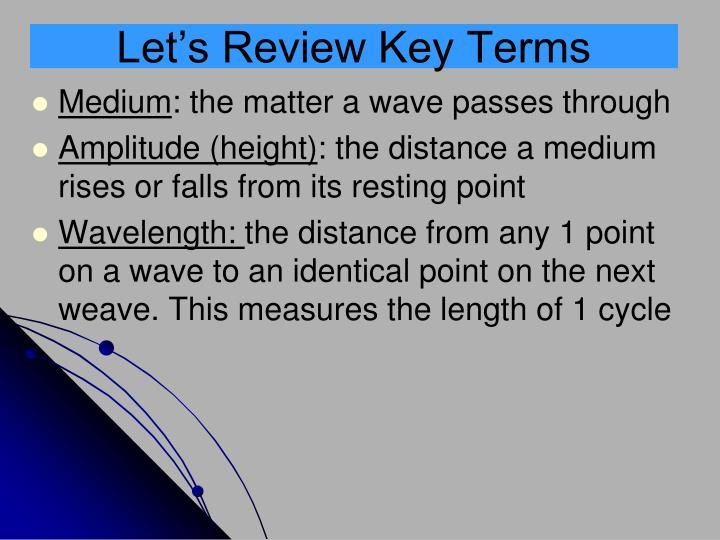 Let's Review Key Terms