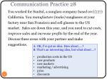communication practice 28