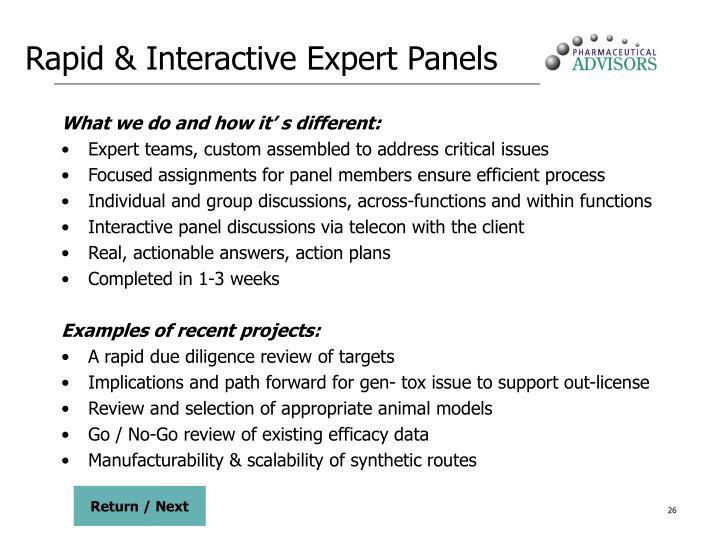 Rapid & Interactive Expert Panels