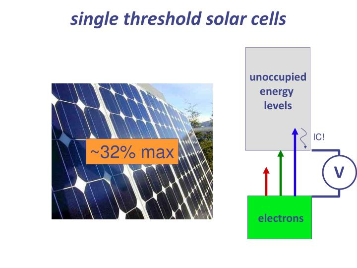 single threshold solar cells