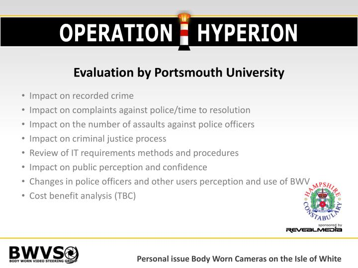 Evaluation by Portsmouth University