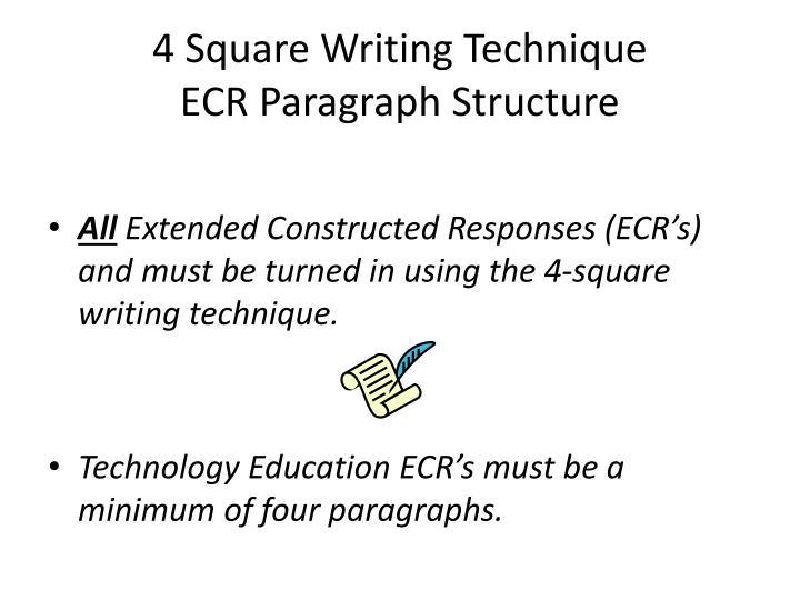 4 Square Writing Technique