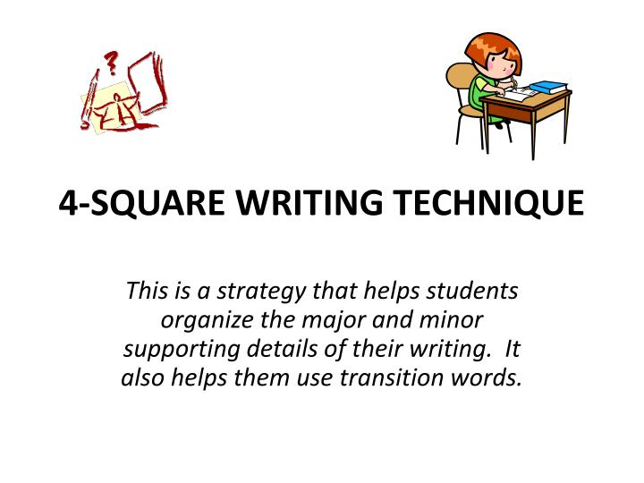 4 square writing technique