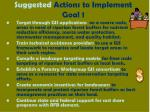 suggested actions to implement goal 1