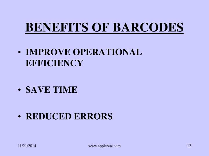 BENEFITS OF BARCODES