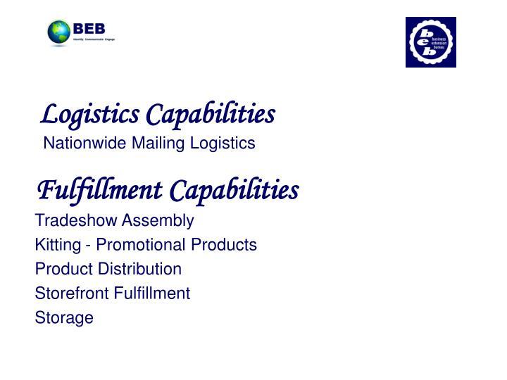 Logistics Capabilities