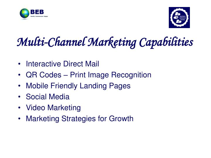 Multi-Channel Marketing Capabilities