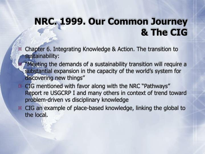 Nrc 1999 our common journey the cig
