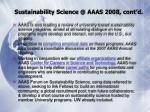 sustainability science @ aaas 2008 cont d
