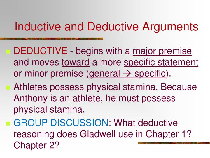 Inductive and Deductive Arguments