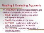 reading evaluating arguments1