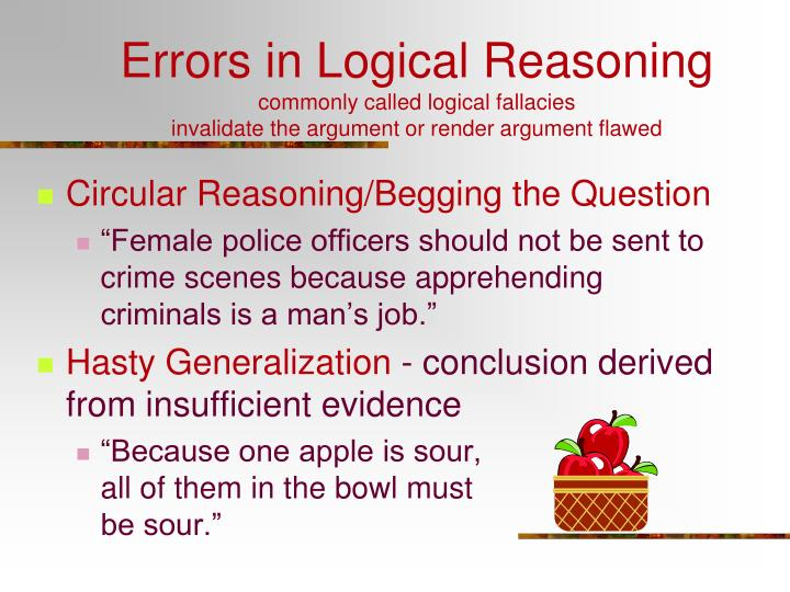 Errors in Logical Reasoning