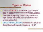 types of claims1