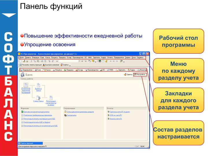 Панель функций