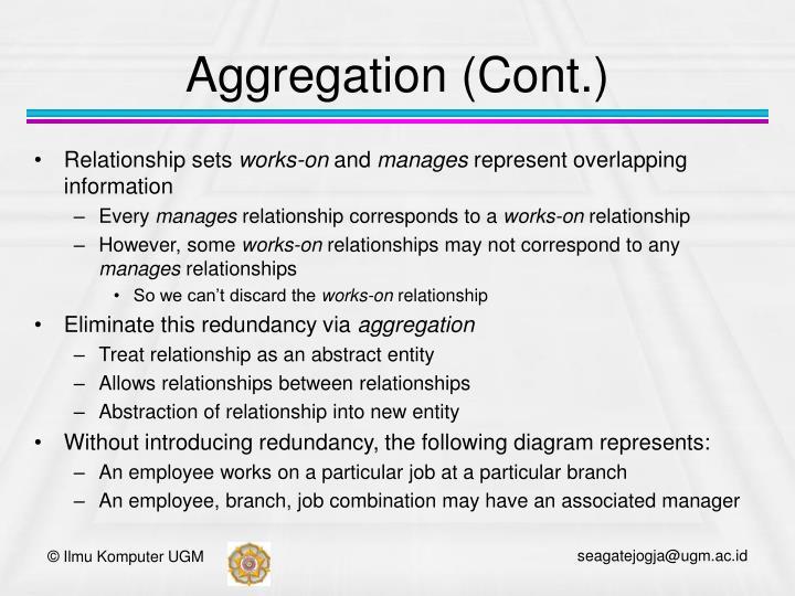 Aggregation (Cont.)