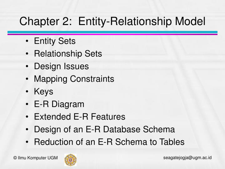 Chapter 2 entity relationship model