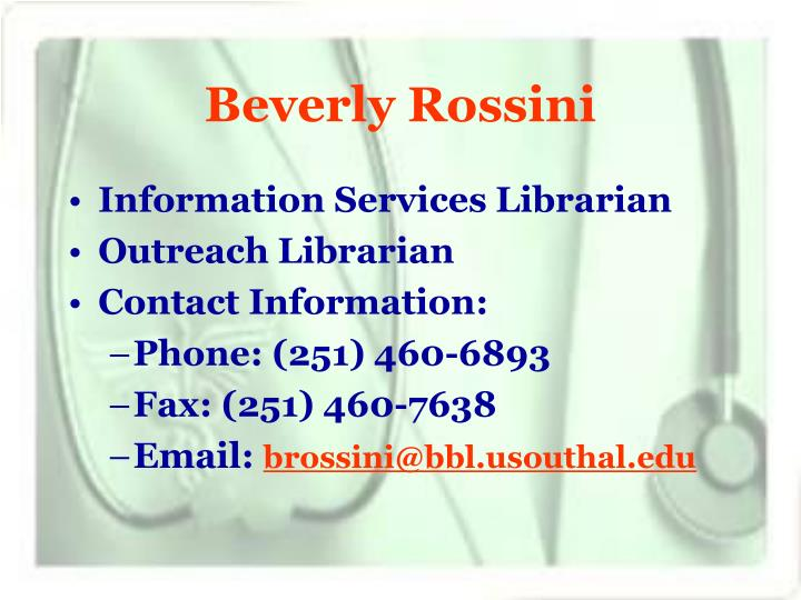Beverly rossini