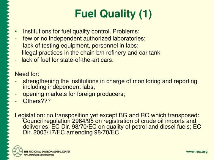 Fuel Quality (1)