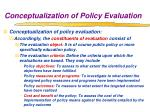 conceptualization of policy evaluation1